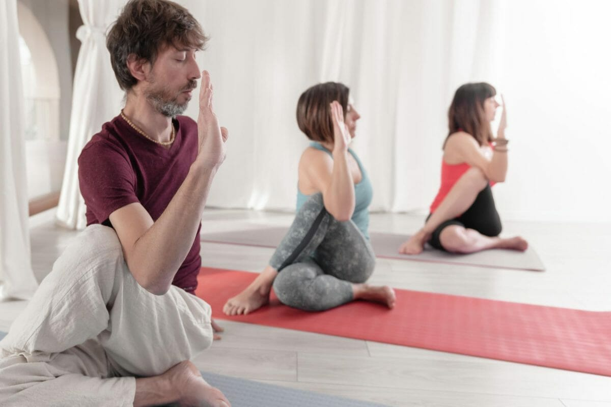 yoga teacher training practical group